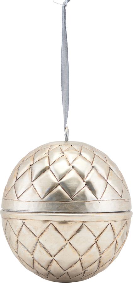 På billedet ser du variationen Ornament, Indigo fra brandet House Doctor i en størrelse Ø: 10 cm. i farven Nikkel