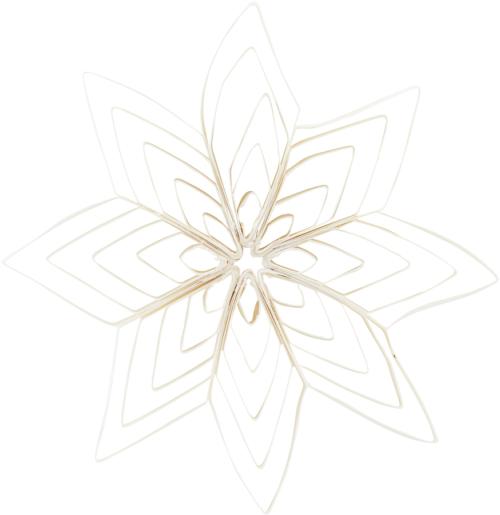 På billedet ser du variationen Ornament, Ouilling fra brandet House Doctor i en størrelse B: 15 cm. i farven Hvid
