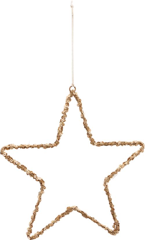 På billedet ser du variationen Ornament, Star, Glis fra brandet House Doctor i en størrelse Ø: 21 cm. i farven Natur