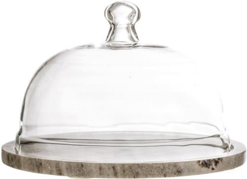 På billedet ser du variationen Nordic, Osteklokke, Glas, Marmor fra brandet Bloomingville i en størrelse D: 25 cm. H: 14 cm. i farven Natur