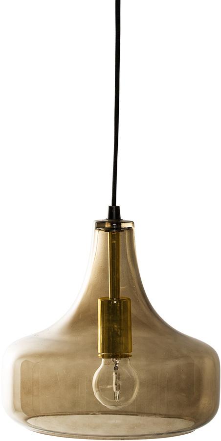 På billedet ser du variationen Nordic, Pendel, Glas fra brandet Bloomingville i en størrelse D: 25,5 cm. H: 23 cm. i farven Brun