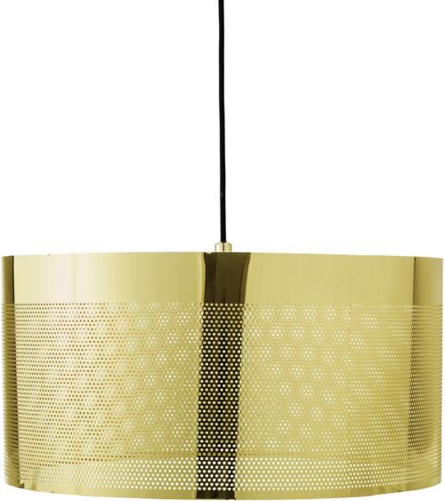 På billedet ser du variationen Cozy, Pendel, Guldbelagt fra brandet Bloomingville i en størrelse D: 40 cm. H: 20 cm. i farven Guld