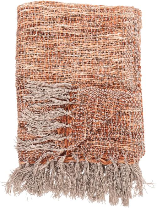 På billedet ser du variationen Cozy, Plaid, Akryl fra brandet Bloomingville i en størrelse B: 130 cm. L: 170 cm. i farven Orange