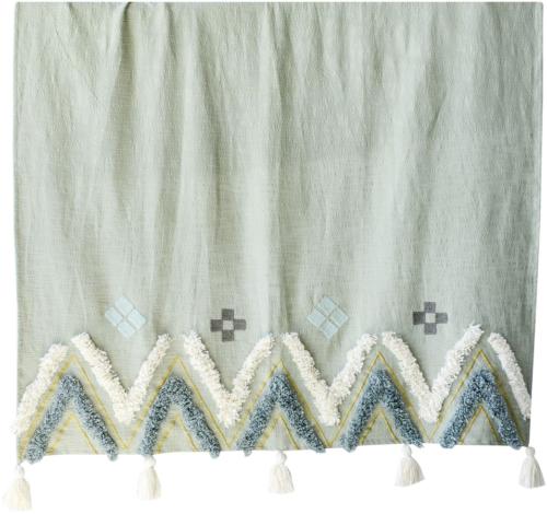 På billedet ser du variationen Boho Livin, Plaid, 100% bomuld fra brandet Creative Collection i en størrelse B: 130 cm. L: 150 cm. i farven Multifarvet