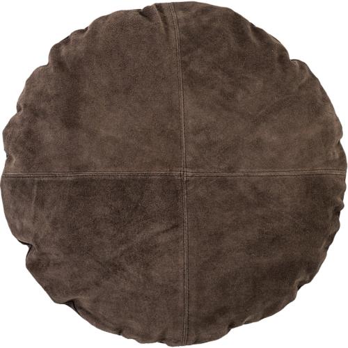 På billedet ser du variationen Nordic, Pude, Ruskind fra brandet Bloomingville i en størrelse D: 45 cm. i farven Brun
