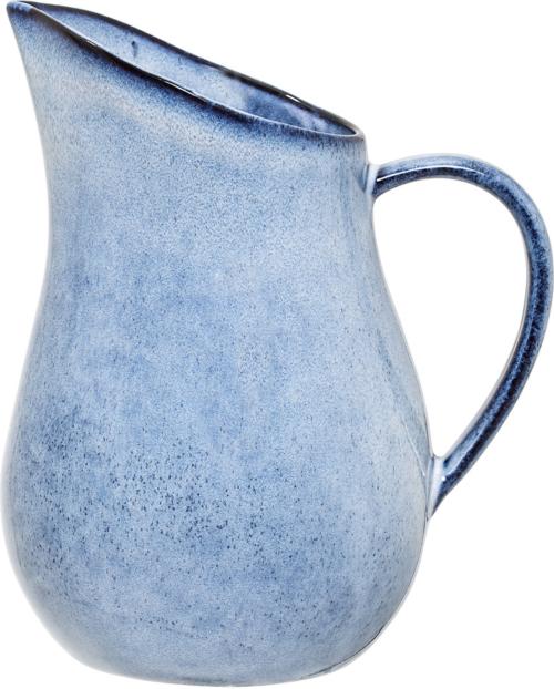 På billedet ser du variationen Nordic, Kande, Stentøj keramik fra brandet Bloomingville i en størrelse D: 15 cm. H: 33 cm. i farven Blå
