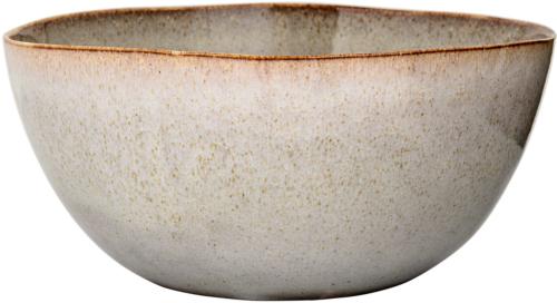 På billedet ser du variationen Nordic, Serveringsfad, Stentøj keramik fra brandet Bloomingville i en størrelse D: 26 cm. H: 16,5 cm. i farven Grå/Brun