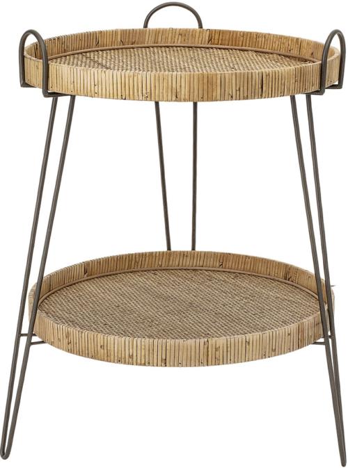 På billedet ser du variationen Harmony, Sidebord, Rattan, Jern fra brandet Creative Collection i en størrelse D: 57 cm. H: 71 cm. i farven Natur