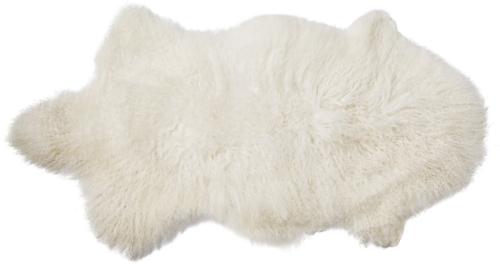 På billedet ser du variationen Golden Jun, Skind, Mongolsk lammeskind fra brandet Bloomingville i en størrelse B: 50 cm. L: 90 cm. i farven Hvid