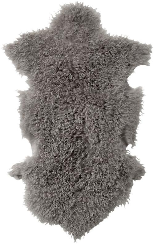 På billedet ser du variationen Nordic, Skind, Fåreskind fra brandet Bloomingville i en størrelse B: 50 cm. L: 90 cm. i farven Grå