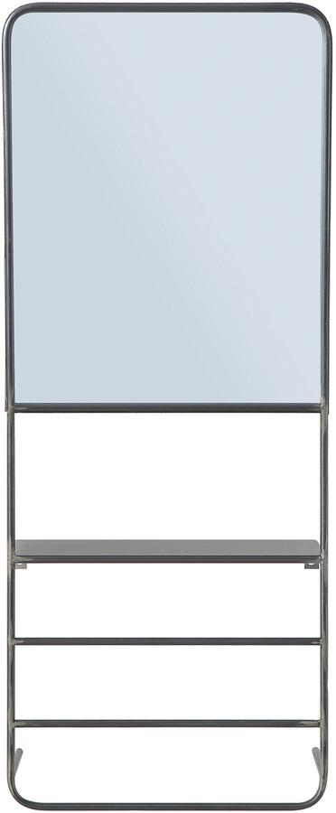 På billedet ser du variationen Cozy, Spejl på stativ, Jern fra brandet Creative Collection i en størrelse H: 100 cm. B: 14 cm. L: 40 cm. i farven Sort