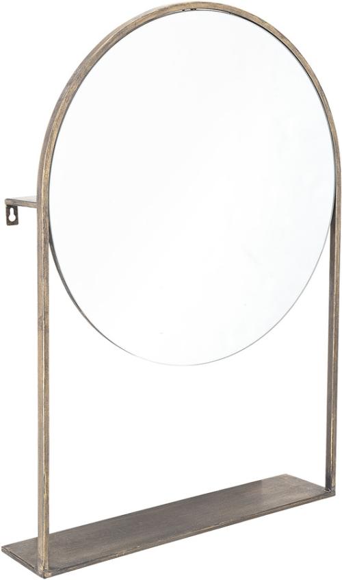 På billedet ser du variationen Harmony, Spejl, Jern, Glas fra brandet Creative Collection i en størrelse H: 76 cm. B: 13 cm. L: 50 cm. i farven Messing
