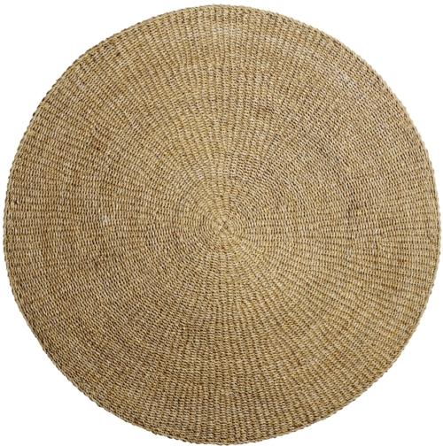 På billedet ser du variationen Cozy, Tæppe, Havgræs fra brandet Bloomingville i en størrelse D: 200 cm. i farven Natur