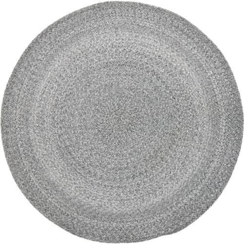 På billedet ser du variationen Nordic, Tæppe, Polyester, Bomuld, Rundt fra brandet Bloomingville i en størrelse D: 120 cm. i farven Grå