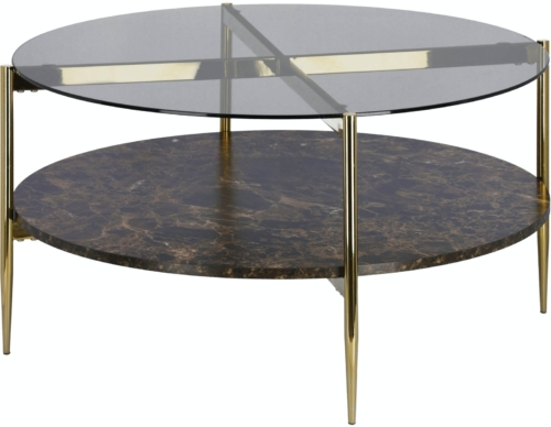 På billedet ser du variationen Kamilah, Sofabord fra brandet LaForma i en størrelse H: 43 cm. B: 84 cm. L: 84 cm. i farven Guld/flerfarvet