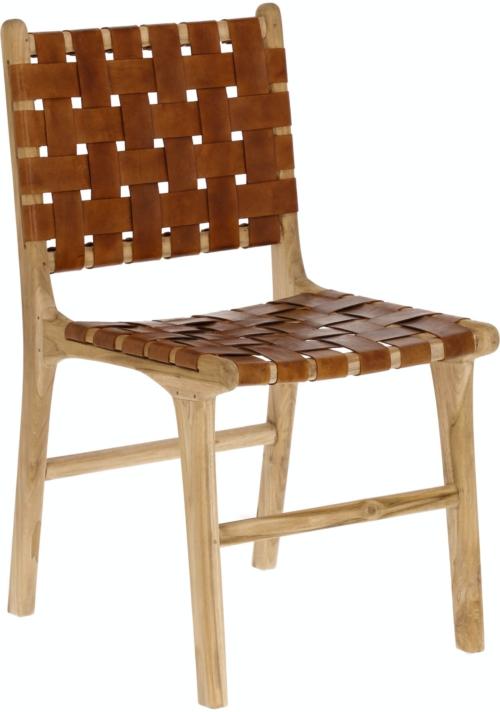 På billedet ser du variationen Calixta, Spisebordsstol fra brandet LaForma i en størrelse H: 86 cm. B: 46 cm. L: 59 cm. i farven Natur