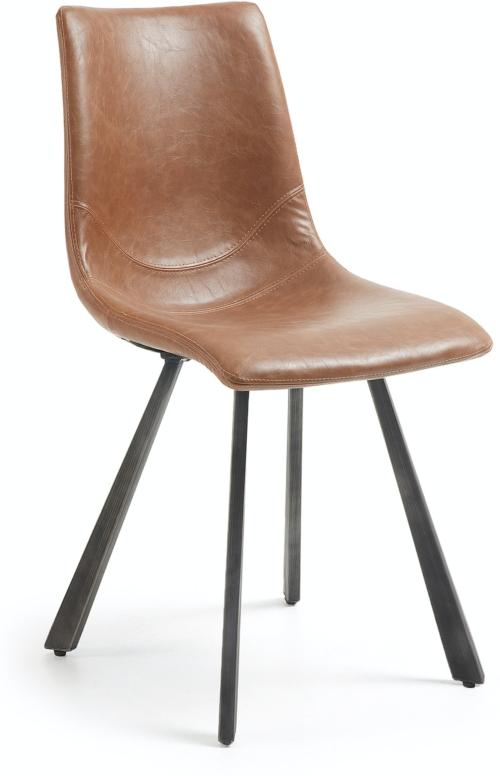 På billedet ser du variationen Trap, Spisebordsstol fra brandet LaForma i en størrelse H: 86 cm. B: 47 cm. L: 52 cm. i farven Brun/sort
