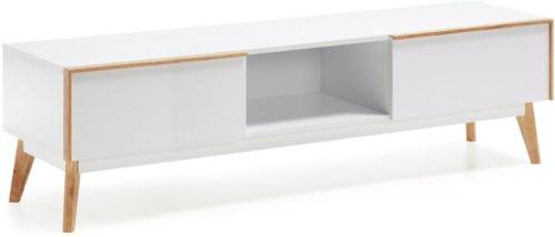 På billedet ser du variationen Melan, TV-bord fra brandet LaForma i en størrelse H: 45 cm. B: 150 cm. L: 42,5 cm. i farven Hvid/natur