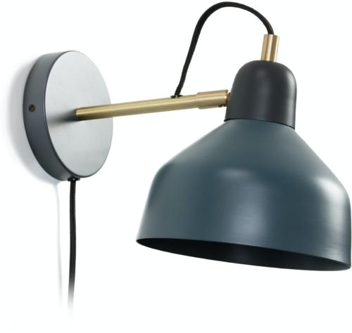 På billedet ser du variationen Olimpia, Væglampe fra brandet LaForma i en størrelse H: 21 cm. B: 18,5 cm. L: 30 cm. i farven Blå/grå