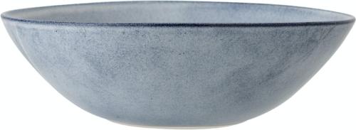 På billedet ser du variationen Sandrine, Serveringsskål, Blå, Stentøj fra brandet Bloomingville i en størrelse D: 32 cm. H: 10 cm. i farven Blå