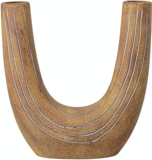 På billedet ser du variationen Balduin, Deko Vase, Brun, Terrakotta fra brandet Bloomingville i en størrelse H: 26 cm. B: 11 cm. L: 24 cm. i farven Brun