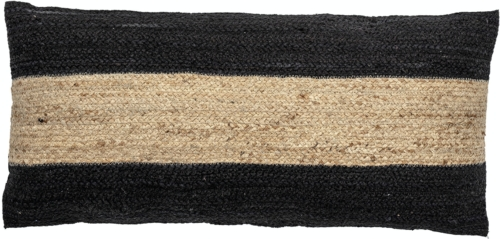 På billedet ser du variationen Guttorm, Pude, Sort, Jute fra brandet Bloomingville i en størrelse B: 40 cm. L: 80 cm. i farven Sort