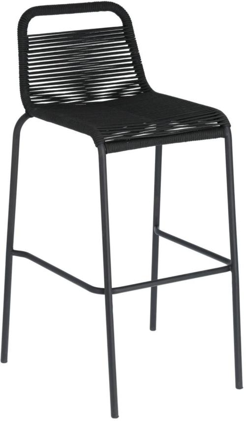 På billedet ser du variationen Lambton, Udendørs barstol fra brandet LaForma i en størrelse H: 100 cm. B: 53 cm. L: 53 cm. i farven Sort