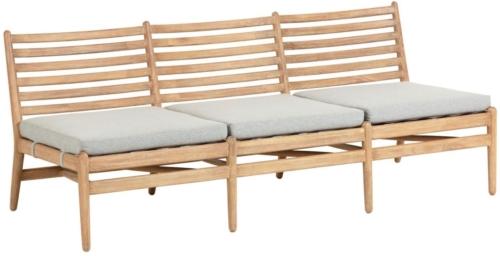 På billedet ser du variationen Simja, Udendørs 3-personers sofa fra brandet LaForma i en størrelse H: 71 cm. B: 180 cm. L: 77 cm. i farven Natur/Grå