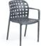 På billedet ser du variationen Isa, Udendørs spisebordsstol fra brandet LaForma i en størrelse H: 82 cm. B: 58 cm. L: 58 cm. i farven Sort