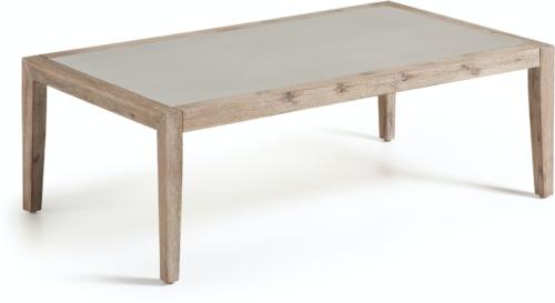 På billedet ser du variationen Vetter, Udendørs sofabord fra brandet LaForma i en størrelse H: 40 cm. B: 120 cm. L: 70 cm. i farven Grå/Natur
