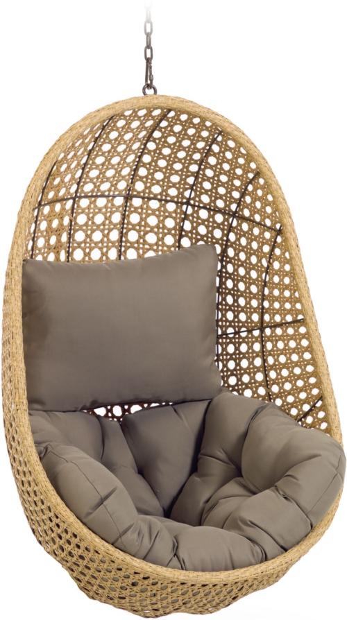På billedet ser du variationen Cira, Udendørs hængestol fra brandet LaForma i en størrelse H: 121 cm. B: 84 cm. L: 82 cm. i farven Natur