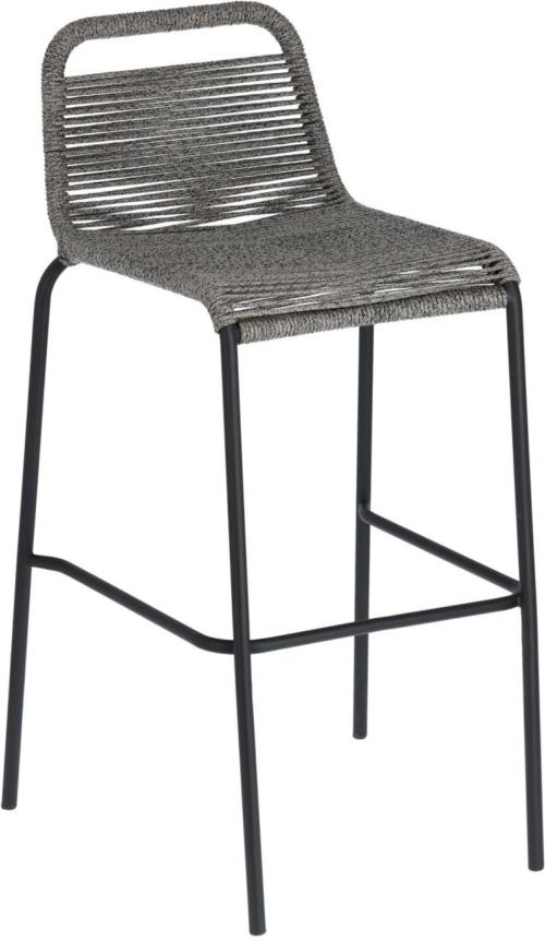 På billedet ser du variationen Lambton, Udendørs barstol fra brandet LaForma i en størrelse H: 100 cm. B: 53 cm. L: 53 cm. i farven Grå/Sort