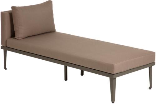 På billedet ser du variationen Pascale, Udendørs chaiselong fra brandet LaForma i en størrelse H: 73 cm. B: 70 cm. L: 180 cm. i farven Grå/Brun