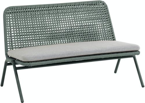 På billedet ser du variationen Wivina, Udendørs 2-personers sofa fra brandet LaForma i en størrelse H: 72 cm. B: 120 cm. L: 62 cm. i farven Grøn