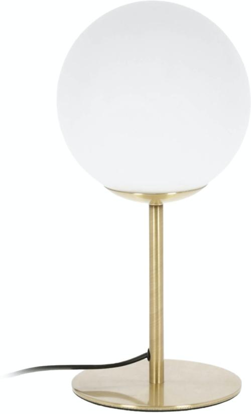 På billedet ser du variationen Mahala, Bordlampe fra brandet LaForma i en størrelse H: 28 cm. B: 13 cm. L: 13 cm. i farven Hvid/Guld