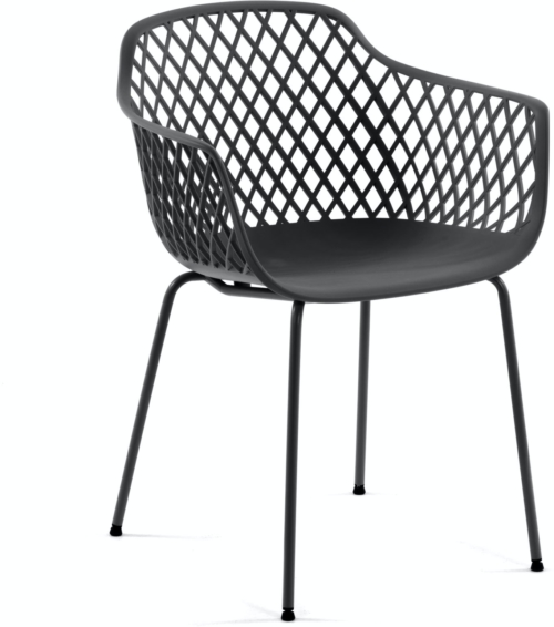 På billedet ser du variationen Quinn, Spisebordsstol fra brandet LaForma i en størrelse H: 80 cm. B: 60 cm. L: 55 cm. i farven Grå