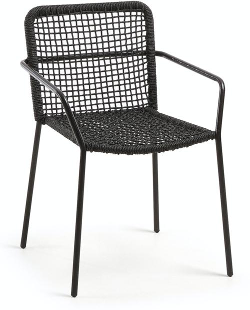 På billedet ser du variationen Ellen, Udendørs spisebordsstol fra brandet LaForma i en størrelse H: 80 cm. B: 56 cm. L: 60 cm. i farven Sort