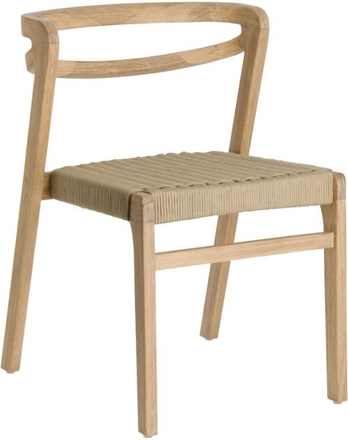 På billedet ser du variationen Ezilda, Udendørs spisebordsstol fra brandet LaForma i en størrelse H: 74 cm. B: 51 cm. L: 55 cm. i farven Beige