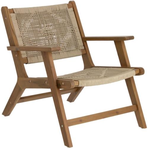 På billedet ser du variationen Geralda, Udendørs lænestol fra brandet LaForma i en størrelse H: 73 cm. B: 66 cm. L: 80 cm. i farven Beige
