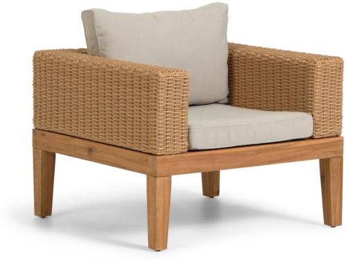 På billedet ser du variationen Giana, Lænestol fra brandet LaForma i en størrelse H: 60 cm. B: 80 cm. L: 80 cm. i farven Natur