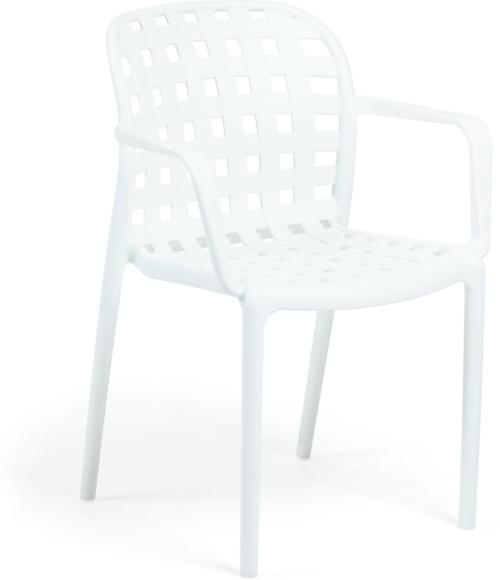 På billedet ser du variationen Isa, Udendørs spisebordsstol fra brandet LaForma i en størrelse H: 82 cm. B: 58 cm. L: 58 cm. i farven Hvid