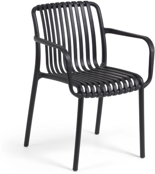 På billedet ser du variationen Isabellini, Udendørs spisebordsstol fra brandet LaForma i en størrelse H: 80 cm. B: 54 cm. L: 49 cm. i farven Sort