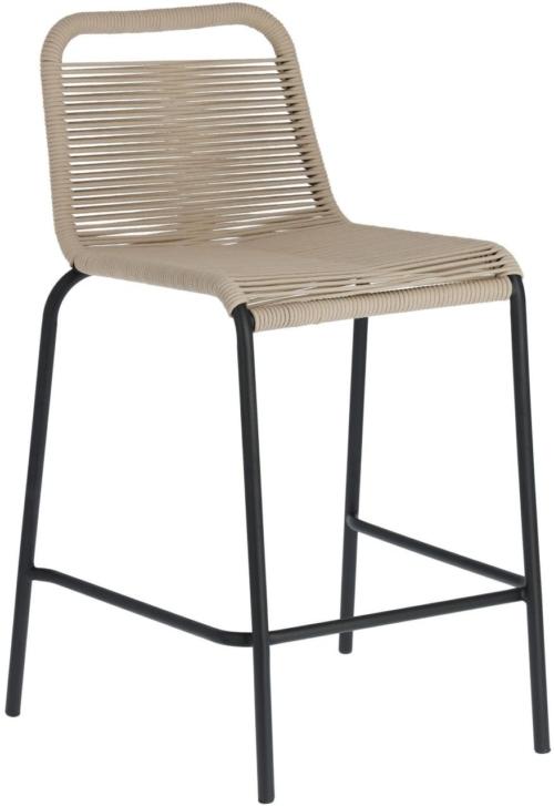 På billedet ser du variationen Lambton, Udendørs barstol fra brandet LaForma i en størrelse H: 88 cm. B: 48 cm. L: 55 cm. i farven Beige/Sort