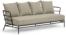 På billedet ser du variationen Mareluz, Udendørs 3-personers sofa fra brandet LaForma i en størrelse H: 60 cm. B: 197 cm. L: 75 cm. i farven Beige