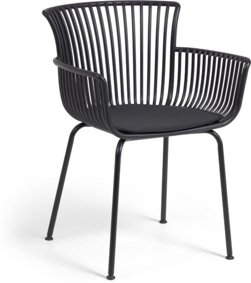 På billedet ser du variationen Surpika, Udendørs spisebordsstol fra brandet LaForma i en størrelse H: 80 cm. B: 59 cm. L: 55 cm. i farven Sort