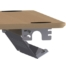 På billedet ser du variationen Universel kabelbakke, 96-166cm fra brandet ConSet i en størrelse H: 5,7 cm. B: 12,8 cm. L: 166 cm. i farven Sølv