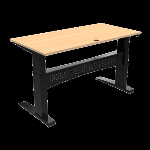 På billedet ser du variationen Elektrisk hæve-/sænkebord, 160x80 cm fra brandet ConSet i en størrelse H: 650 cm. B: 160 cm. L: 80 cm. i farven Natur/Sort